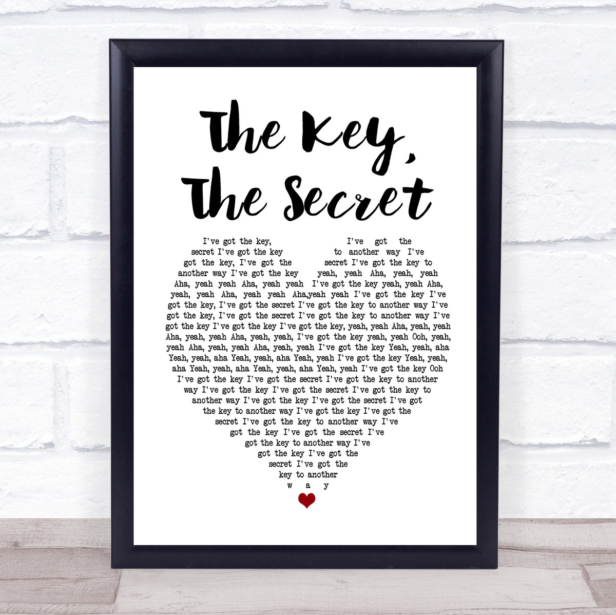 The Secret Black Heart Song Lyric Art Music Quote Gift Poster Print The Key