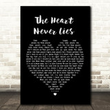 McFly The Heart Never Lies Black Heart Song Lyric Quote Print