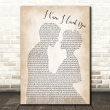Savage Garden I Knew I Loved You Man Lady Bride Groom Wedding Song Lyric Print