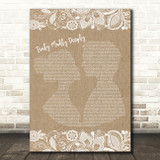 Savage Garden Truly Madly Deeply Burlap & Lace Song Lyric Quote Print