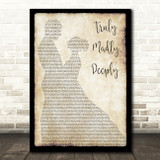 Savage Garden Truly Madly Deeply Man Lady Dancing Song Lyric Quote Print