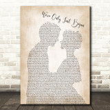 The Carpenters We've Only Just Begun Man Lady Bride Groom Song Lyric Print