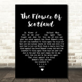 The Corries The Flower Of Scotland Black Heart Song Lyric Quote Print