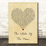 The Waterboys The Whole Of The Moon Vintage Heart Song Lyric Quote Print