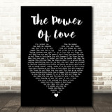 Frankie Goes To Hollywood The Power Of Love Black Heart Song Lyric Quote Print