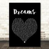 Gabrielle Dreams Black Heart Song Lyric Quote Print