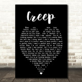 Creep Radiohead Black Heart Quote Song Lyric Print