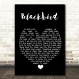 Blackbird The Beatles Black Heart Quote Song Lyric Print