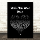 Pink Floyd Wish You Were Here Black Heart Song Lyric Quote Print
