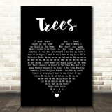 Twenty One Pilots Trees Black Heart Song Lyric Quote Print