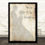 The Real Thing You To Me Are Everything Man Lady Dancing Song Lyric Quote Print