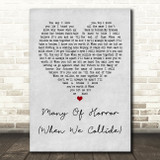 Biffy Clyro Many Of Horror (When We Collide) Grey Heart Quote Song Lyric Print