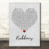 The 1975 Robbers Grey Heart Quote Song Lyric Print