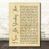 The Beatles I Saw Her Standing There Rustic Script Song Lyric Quote Print