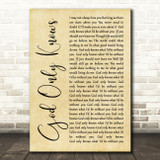 The Beach Boys God Only Knows Rustic Script Song Lyric Quote Print