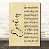 Foo Fighters Everlong Rustic Script Song Lyric Quote Print