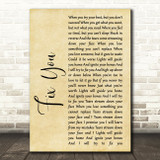 Coldplay Fix You Rustic Script Song Lyric Quote Print