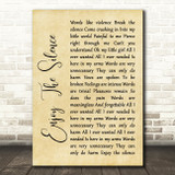 Depeche Mode Enjoy The Silence Rustic Script Song Lyric Quote Print