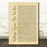 Jefferson Starship Nothing's Gonna Stop Us Now Rustic Script Song Lyric Print