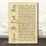 The Style Council You're The Best Thing Rustic Script Song Lyric Quote Print