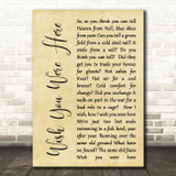 Pink Floyd Wish You Were Here Rustic Script Song Lyric Quote Print