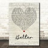 Gerry Cinnamon Belter Script Heart Song Lyric Quote Print