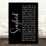Eva Cassidy Songbird Black Script Song Lyric Quote Print