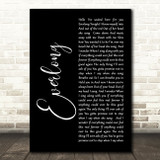 Foo Fighters Everlong Black Script Song Lyric Quote Print