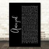 Lonestar Amazed Black Script Song Lyric Quote Print