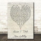 Have I Told You Lately Rod Stewart Script Heart Song Lyric Quote Print