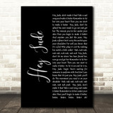 The Beatles Hey Jude Black Script Song Lyric Quote Print