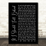 Bruce Springsteen If I Should Fall Behind Black Script Song Lyric Quote Print