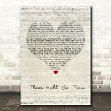Mumford & Sons There Will Be Time Script Heart Quote Song Lyric Print