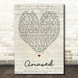 Amazed Lonestar Script Heart Quote Song Lyric Print