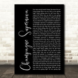Oasis Champagne Supernova Black Script Song Lyric Quote Print