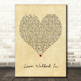 Thunder Love Walked In Vintage Heart Quote Song Lyric Print