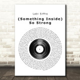 Labi Siffre (Something Inside) So Strong Vinyl Record Song Lyric Quote Print