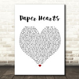 The Vamps Paper Hearts Heart Song Lyric Quote Print