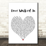 Thunder Love Walked In Heart Song Lyric Quote Print