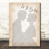 Elvis Presley Let It Be Me Man Lady Bride Groom Wedding Song Lyric Framed Print