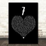 Catfish And The Bottlemen 7 Black Heart Song Lyric Framed Print
