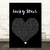 Lucy Spraggan Lucky Stars Black Heart Song Lyric Framed Print