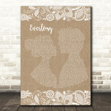 Foo Fighters Everlong Burlap & Lace Song Lyric Quote Print