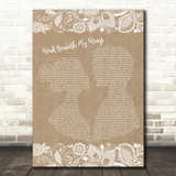 Bette Midler Wind Beneath My Wings Burlap & Lace Song Lyric Quote Print