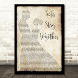 Al Green Let's Stay Together Man Lady Dancing Song Lyric Framed Print