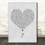 Catfish And The Bottlemen 7 Grey Heart Song Lyric Framed Print