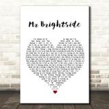 The Killers Mr Brightside White Heart Song Lyric Framed Print