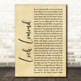 Runrig Loch Lomond Rustic Script Song Lyric Framed Print