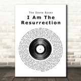 The Stone Roses I Am The Resurrection Vinyl Record Song Lyric Framed Print