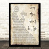 James Arthur Say You Won't Let Go Man Lady Dancing Song Lyric Quote Print